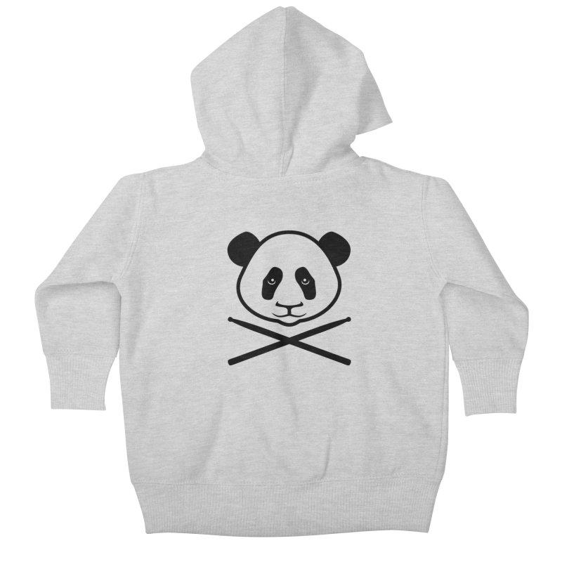 Drum Panda Transparent Kids Baby Zip-Up Hoody by Drum Geek Online Shop