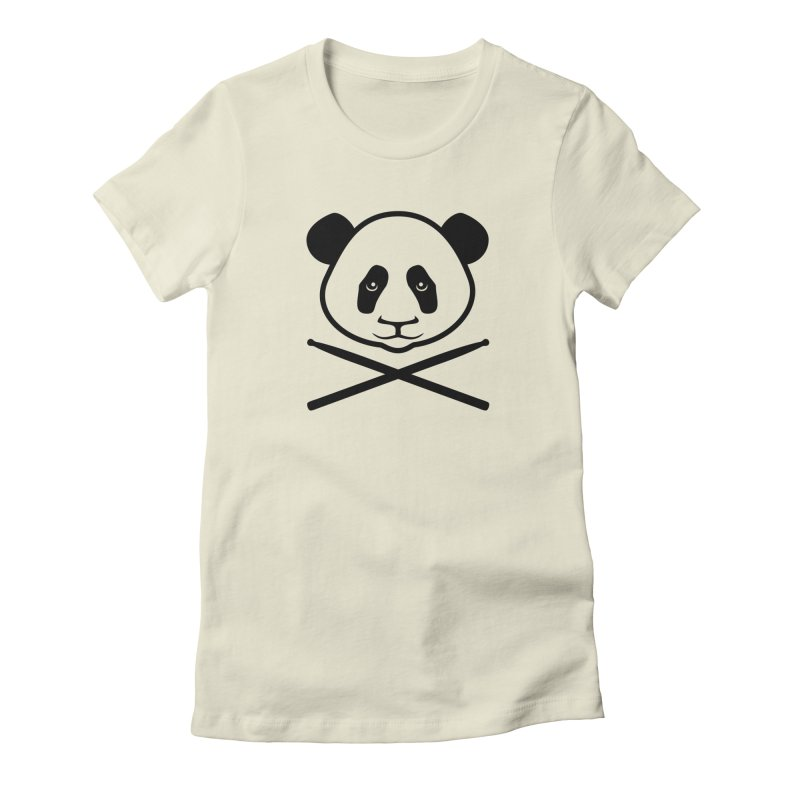 Drum Panda Transparent Women's Fitted T-Shirt by Drum Geek Online Shop