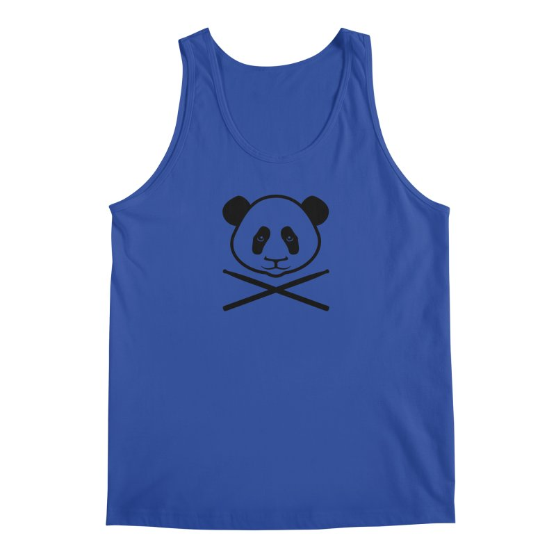 Drum Panda Transparent Men's Regular Tank by Drum Geek Online Shop