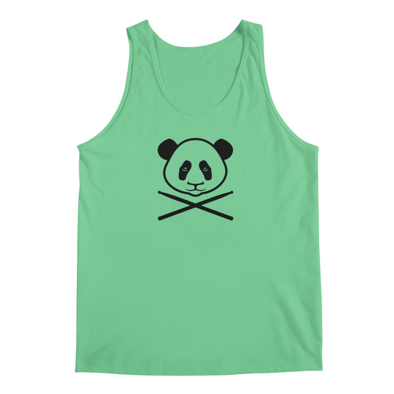 Drum Panda Transparent Men's Regular Tank by Drum Geek Online Shop