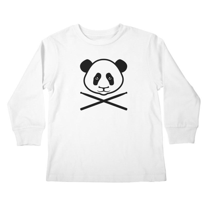 Drum Panda Transparent Kids Longsleeve T-Shirt by Drum Geek Online Shop