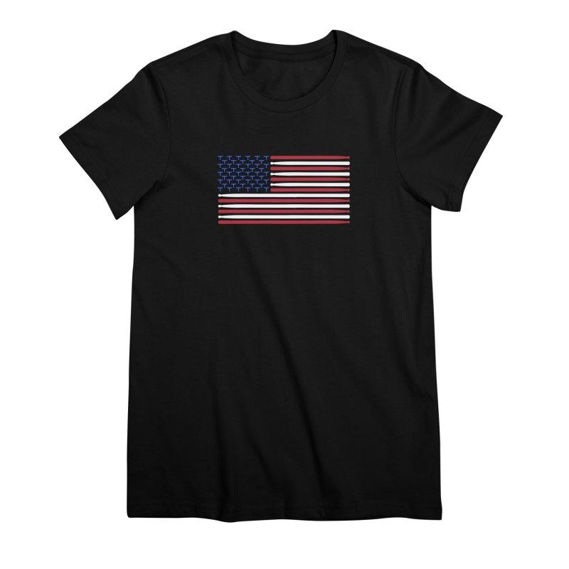 Old Glory Women's Premium T-Shirt by Drum Geek Online Shop