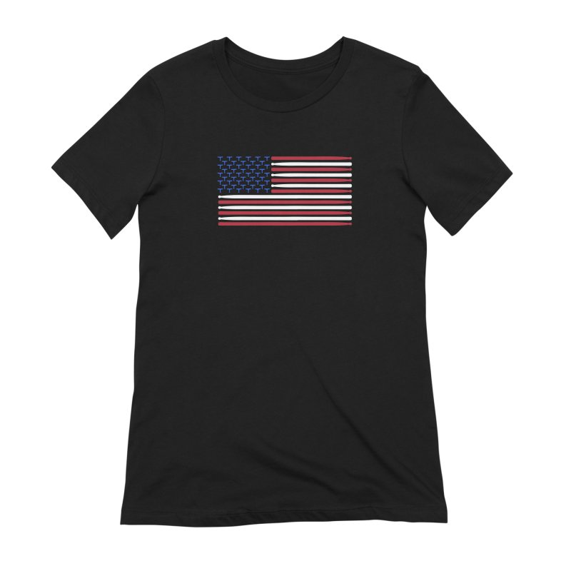 Old Glory Women's Extra Soft T-Shirt by Drum Geek Online Shop