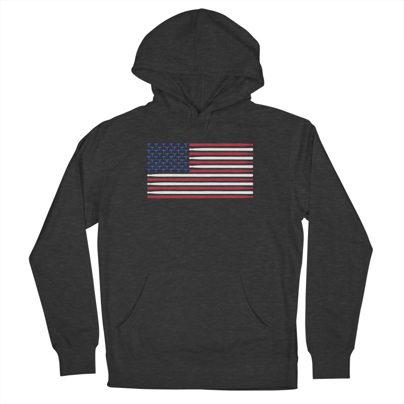 Old Glory Women's French Terry Pullover Hoody by Drum Geek Online Shop