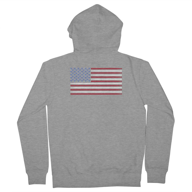 Old Glory Women's French Terry Zip-Up Hoody by Drum Geek Online Shop