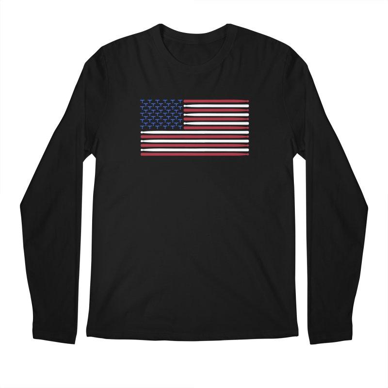 Old Glory Men's Regular Longsleeve T-Shirt by Drum Geek Online Shop