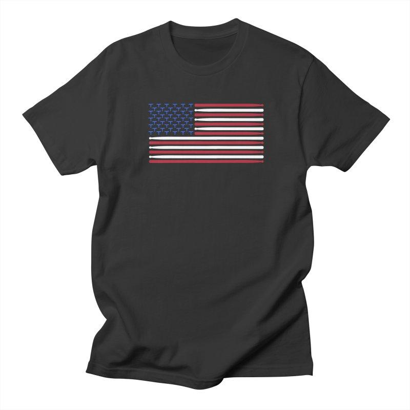 Old Glory Men's Regular T-Shirt by Drum Geek Online Shop