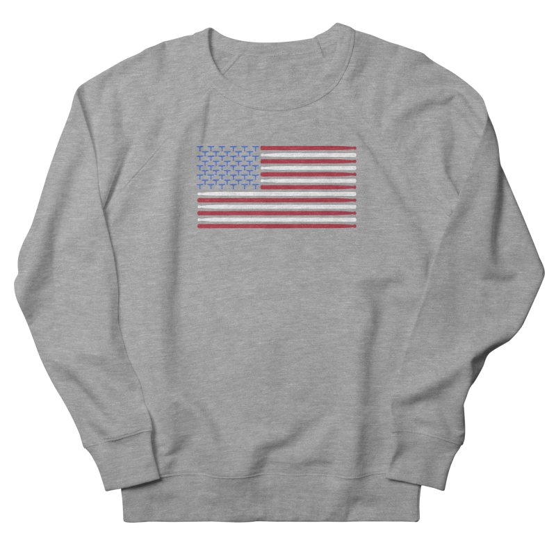 Old Glory Women's French Terry Sweatshirt by Drum Geek Online Shop