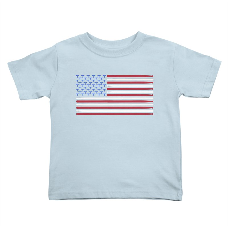 Old Glory Kids Toddler T-Shirt by Drum Geek Online Shop