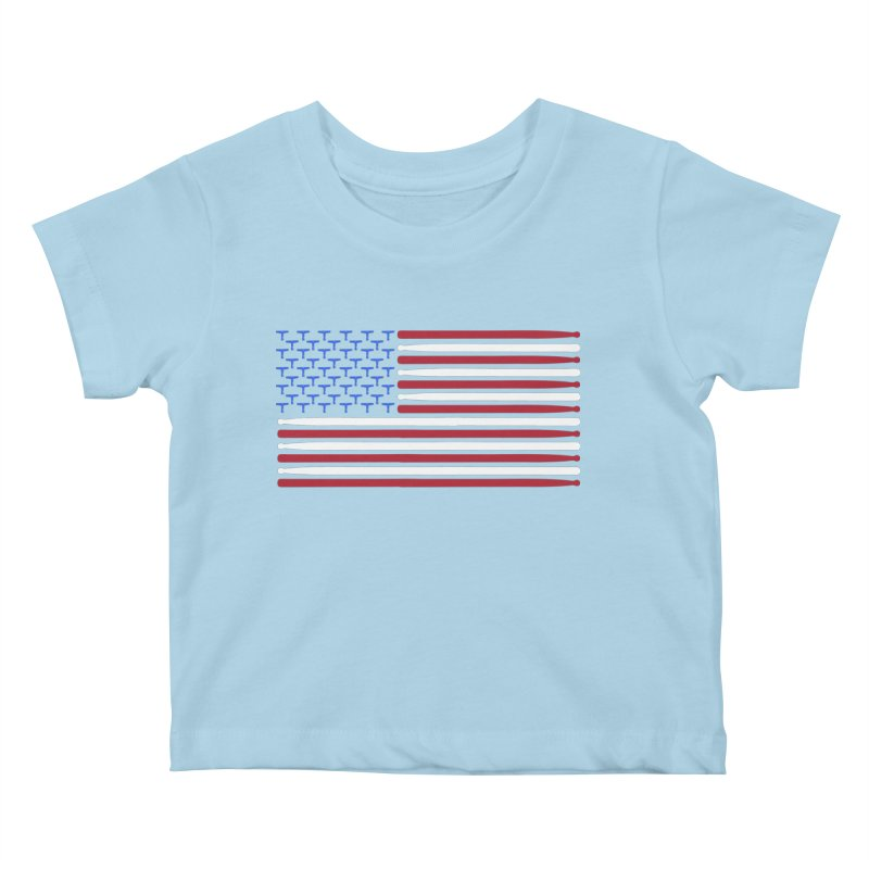 Old Glory Kids Baby T-Shirt by Drum Geek Online Shop