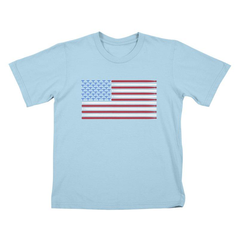Old Glory Kids T-Shirt by Drum Geek Online Shop