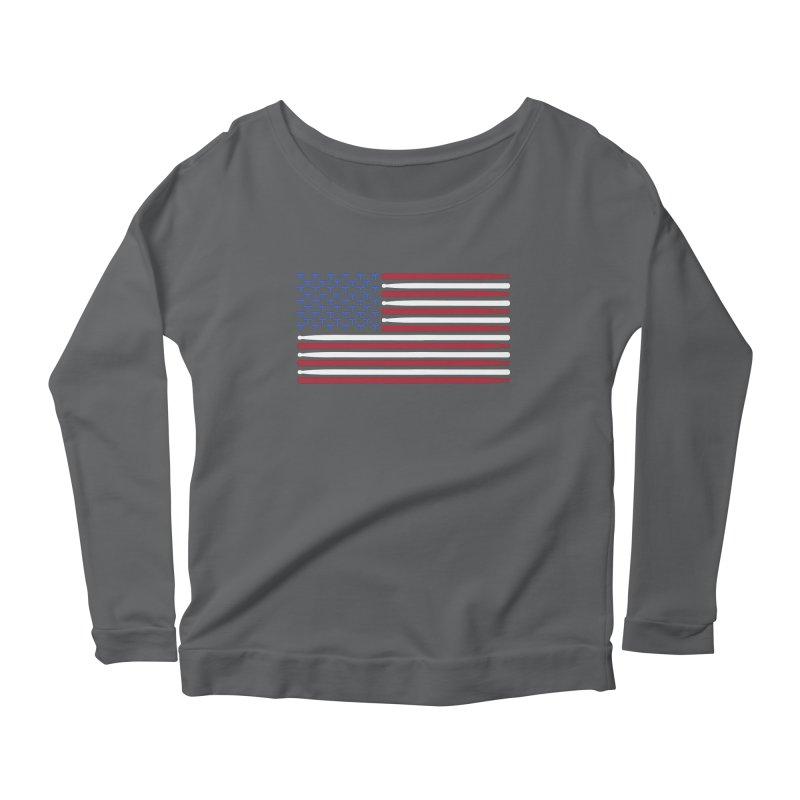 Old Glory Women's Scoop Neck Longsleeve T-Shirt by Drum Geek Online Shop