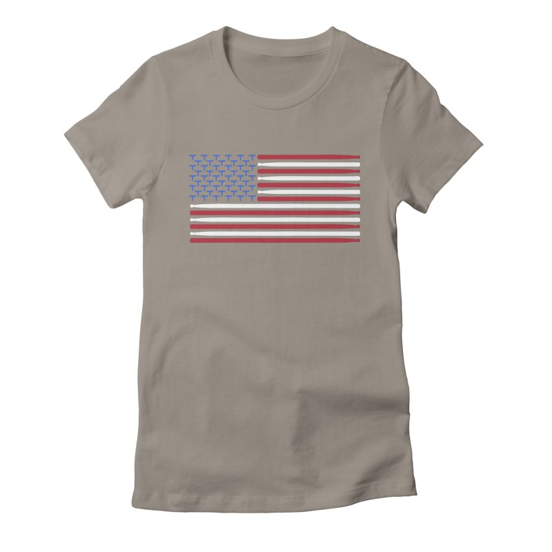 Old Glory Women's Fitted T-Shirt by Drum Geek Online Shop