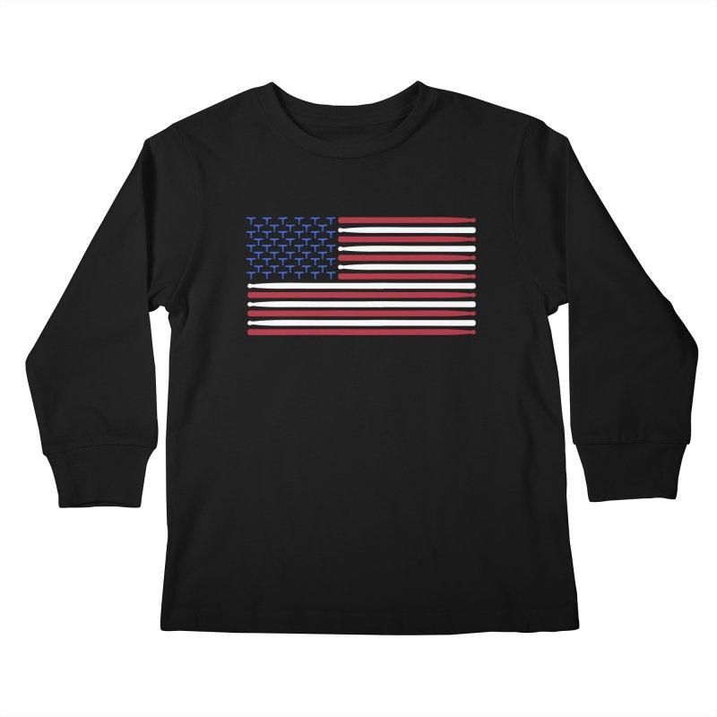 Old Glory Kids Longsleeve T-Shirt by Drum Geek Online Shop
