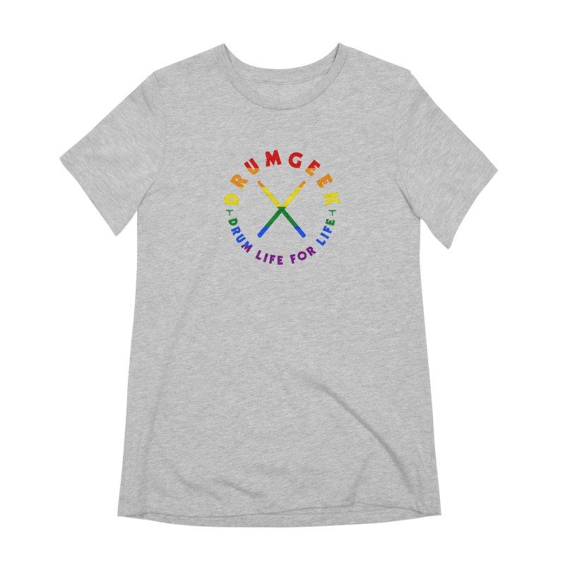 Drum Geek Pride Women's Extra Soft T-Shirt by Drum Geek Online Shop
