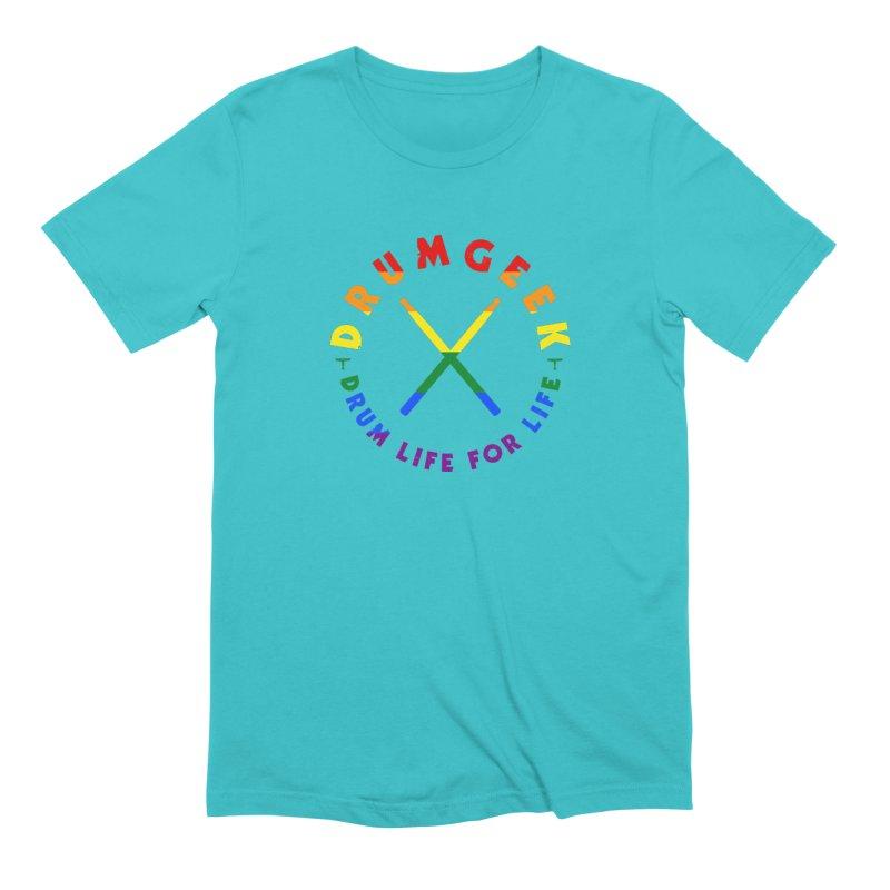 Drum Geek Pride Men's Extra Soft T-Shirt by Drum Geek Online Shop
