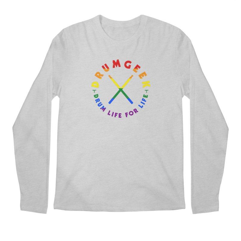 Drum Geek Pride Men's Regular Longsleeve T-Shirt by Drum Geek Online Shop