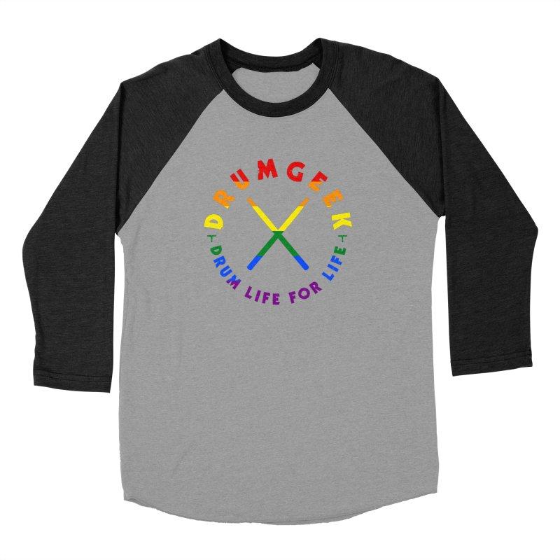 Drum Geek Pride Women's Baseball Triblend Longsleeve T-Shirt by Drum Geek Online Shop