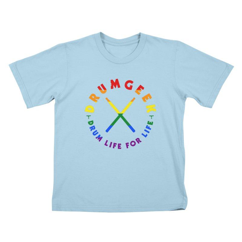 Drum Geek Pride Kids T-Shirt by Drum Geek Online Shop