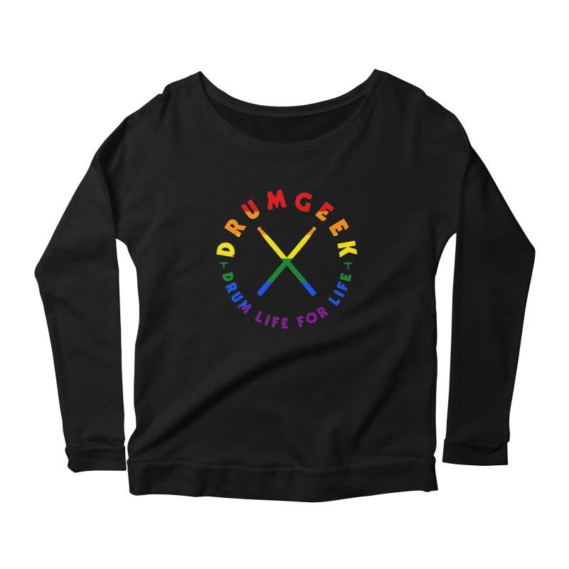 Drum Geek Pride Women's Scoop Neck Longsleeve T-Shirt by Drum Geek Online Shop