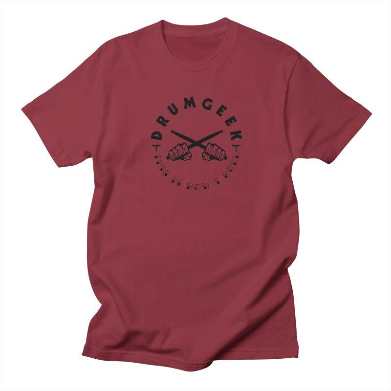 DLFL How I Roll Men's Regular T-Shirt by Drum Geek Online Shop