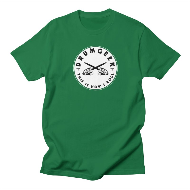 This Is How I Roll (Hands) - Solid Logo Men's T-Shirt by Drum Geek Online Shop