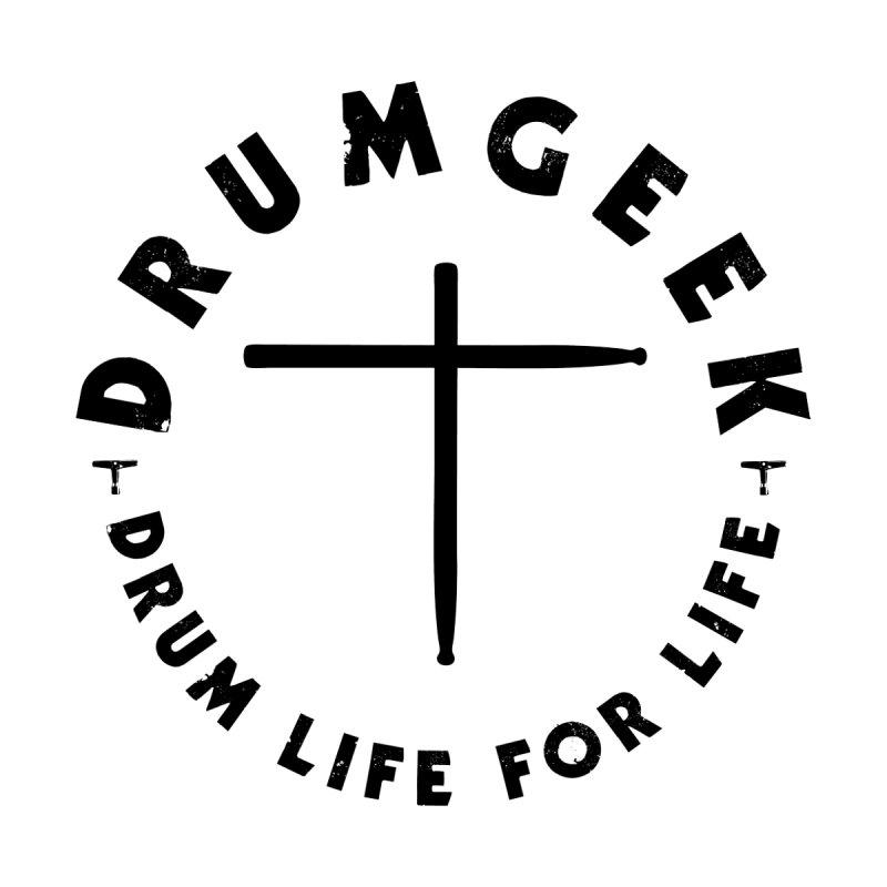 Christian Drum Geek (Style 2) - Black Logo by Drum Geek Online Shop