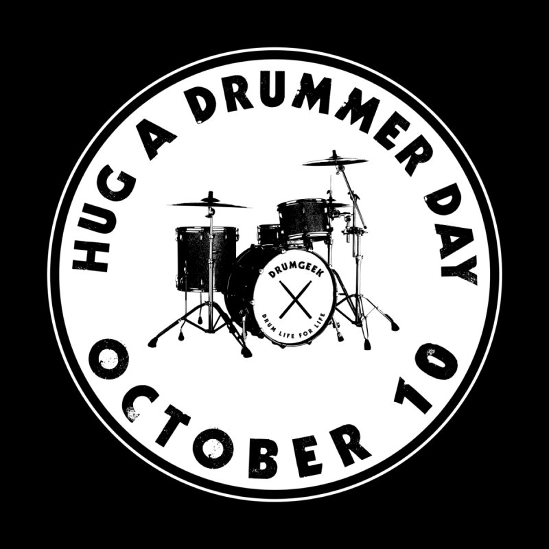 Hug A Drummer Day - Solid Logo by Drum Geek Online Shop