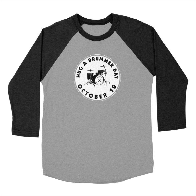 Hug A Drummer Day - Solid Logo Women's Baseball Triblend Longsleeve T-Shirt by Drum Geek Online Shop
