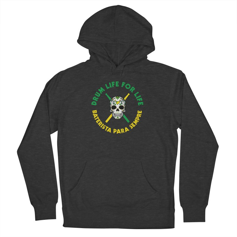 Bonsey From Brazil - 2 Color Logo Men's French Terry Pullover Hoody by Drum Geek Online Shop