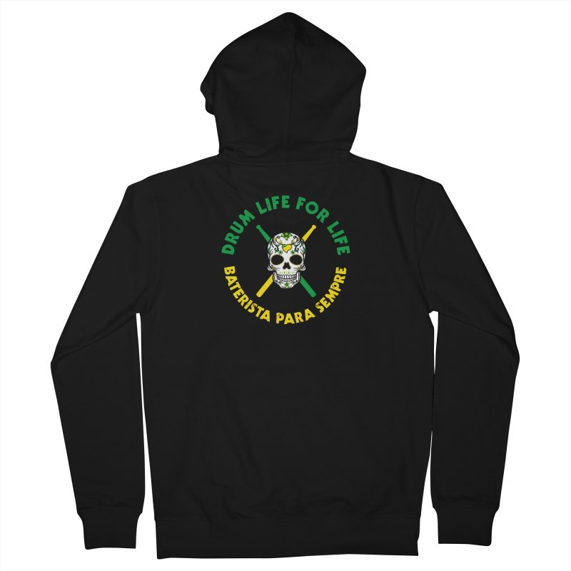 Bonsey From Brazil - 2 Color Logo Women's French Terry Zip-Up Hoody by Drum Geek Online Shop