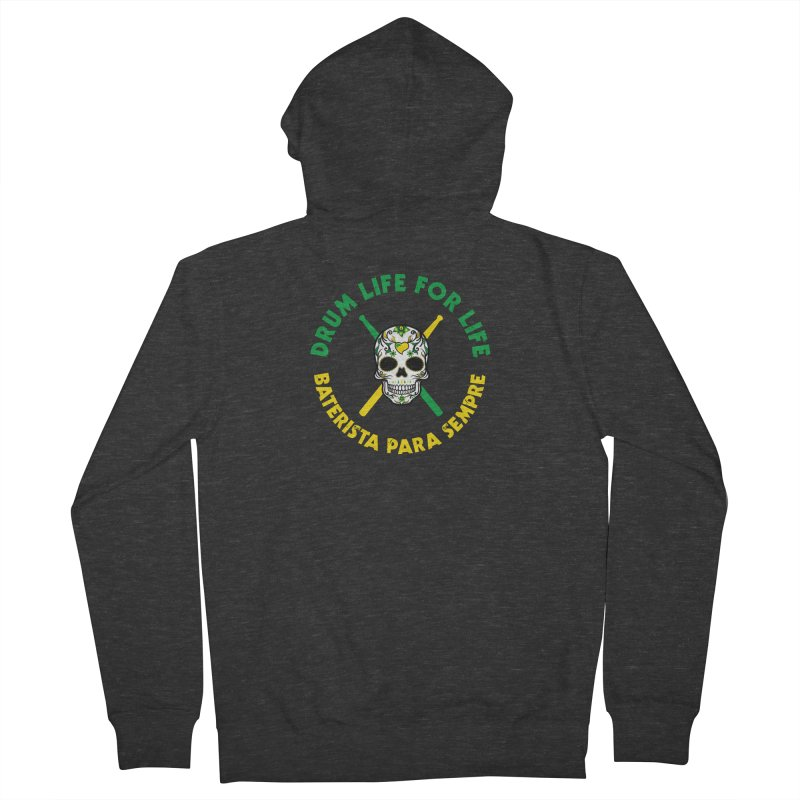 Bonsey From Brazil - 2 Color Logo Men's French Terry Zip-Up Hoody by Drum Geek Online Shop