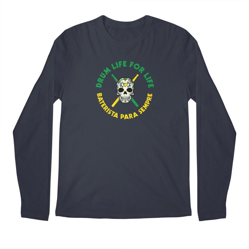 Bonsey From Brazil - 2 Color Logo Men's Regular Longsleeve T-Shirt by Drum Geek Online Shop