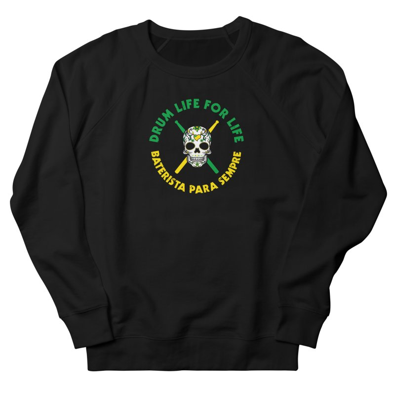 Bonsey From Brazil - 2 Color Logo Men's French Terry Sweatshirt by Drum Geek Online Shop