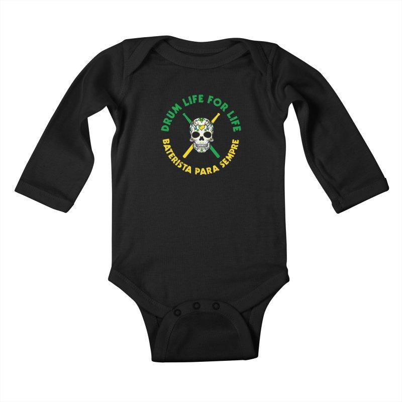 Bonsey From Brazil - 2 Color Logo Kids Baby Longsleeve Bodysuit by Drum Geek Online Shop
