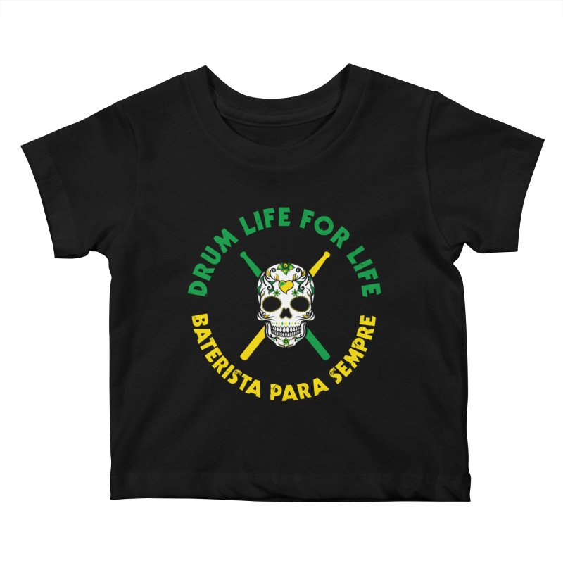 Bonsey From Brazil - 2 Color Logo Kids Baby T-Shirt by Drum Geek Online Shop
