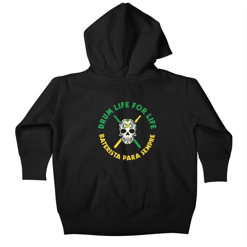 Bonsey From Brazil - 2 Color Logo Kids Baby Zip-Up Hoody by Drum Geek Online Shop