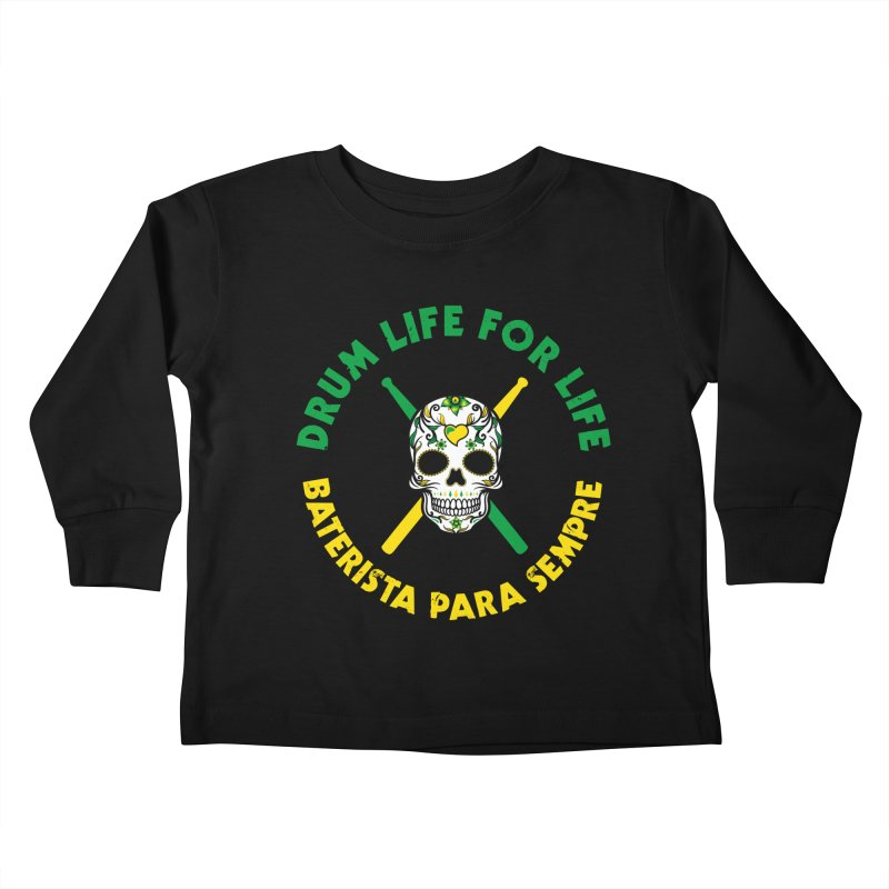 Bonsey From Brazil - 2 Color Logo Kids Toddler Longsleeve T-Shirt by Drum Geek Online Shop