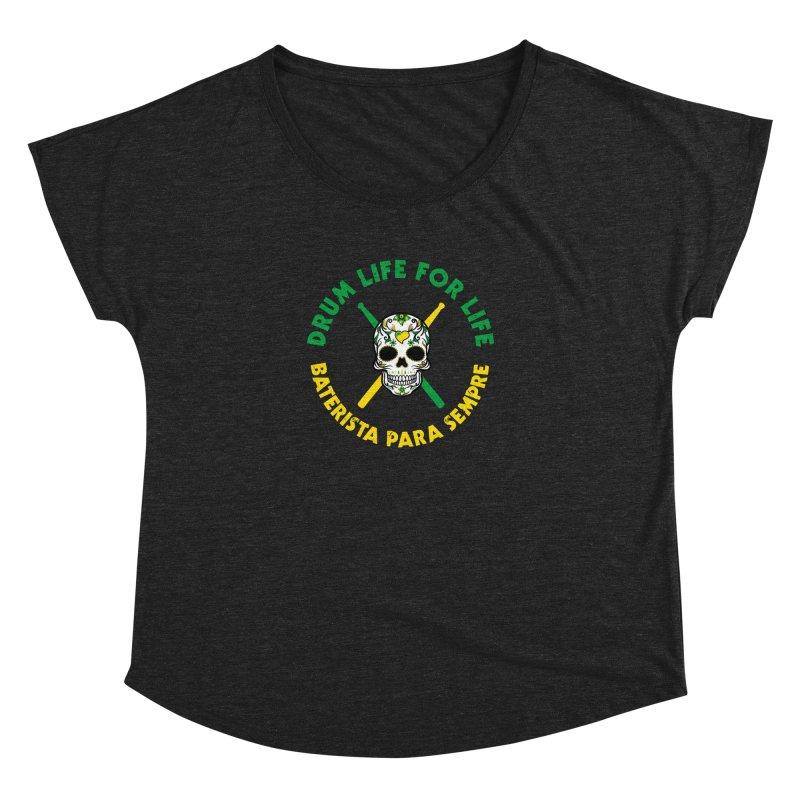 Bonsey From Brazil - 2 Color Logo Women's Dolman Scoop Neck by Drum Geek Online Shop