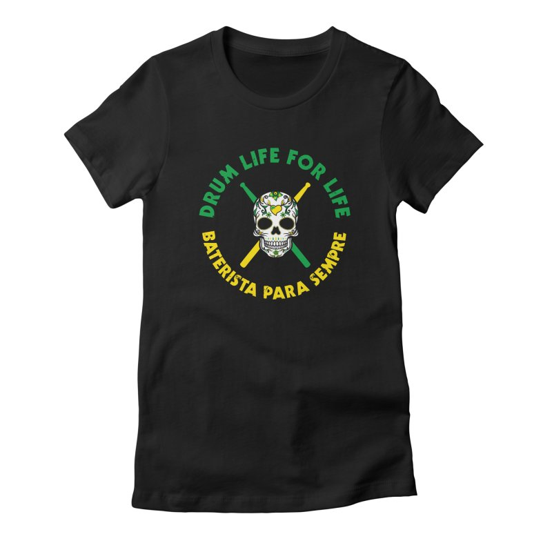 Bonsey From Brazil - 2 Color Logo Women's Fitted T-Shirt by Drum Geek Online Shop