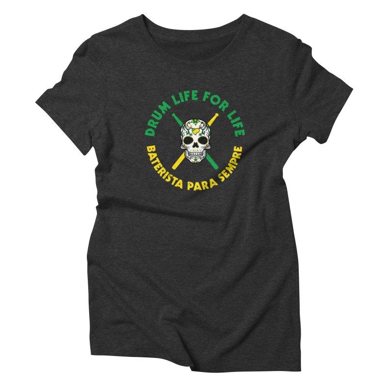 Bonsey From Brazil - 2 Color Logo Women's Triblend T-Shirt by Drum Geek Online Shop