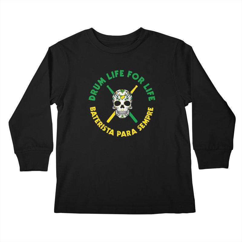 Bonsey From Brazil - 2 Color Logo Kids Longsleeve T-Shirt by Drum Geek Online Shop