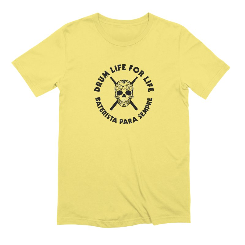 Bonesy From Brazil - Black Logo Men's Extra Soft T-Shirt by Drum Geek Online Shop