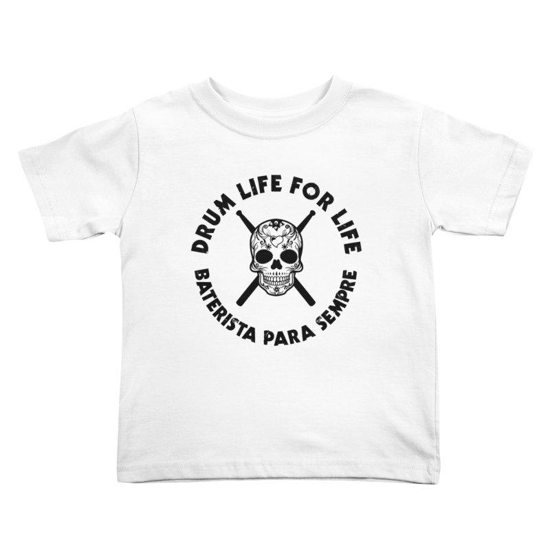 Bonesy From Brazil - Black Logo Kids Toddler T-Shirt by Drum Geek Online Shop