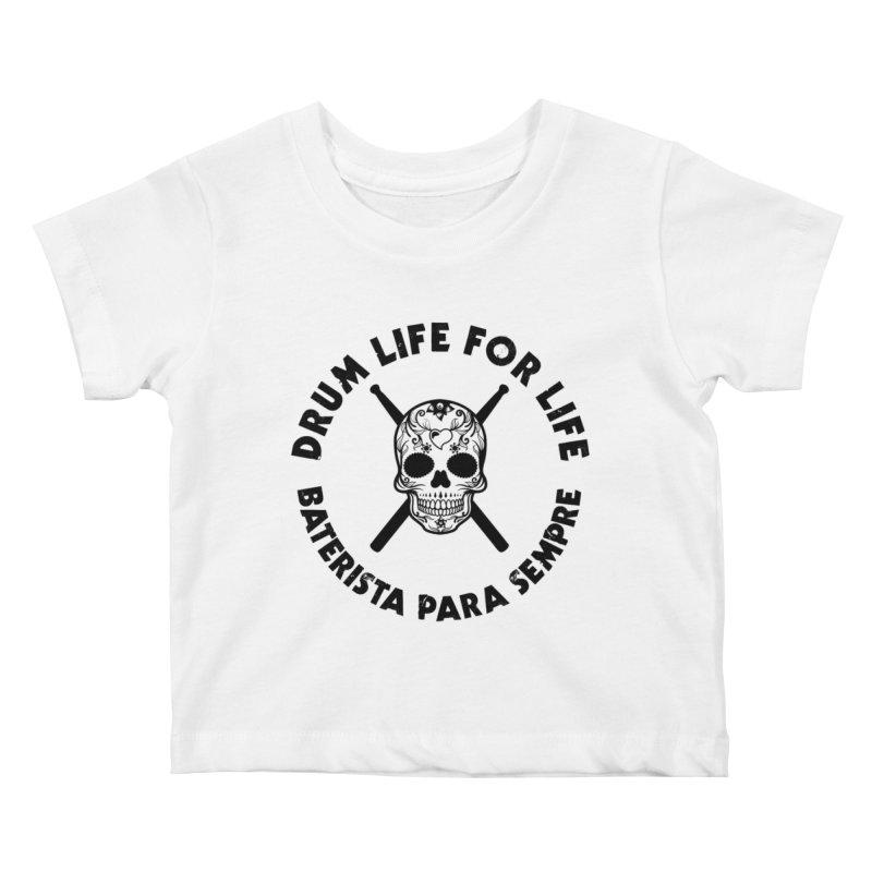 Bonesy From Brazil - Black Logo Kids Baby T-Shirt by Drum Geek Online Shop