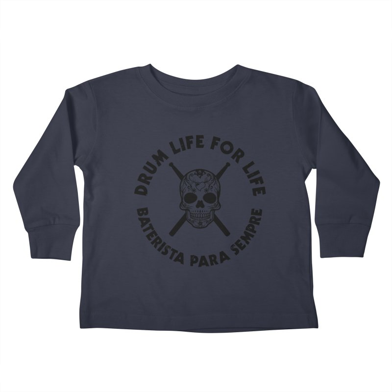 Bonesy From Brazil - Black Logo Kids Toddler Longsleeve T-Shirt by Drum Geek Online Shop