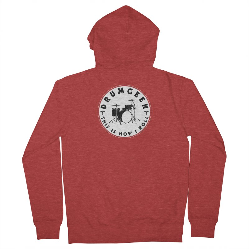 This Is How I Roll (Small Kit) - Solid Logo Women's French Terry Zip-Up Hoody by Drum Geek Online Shop