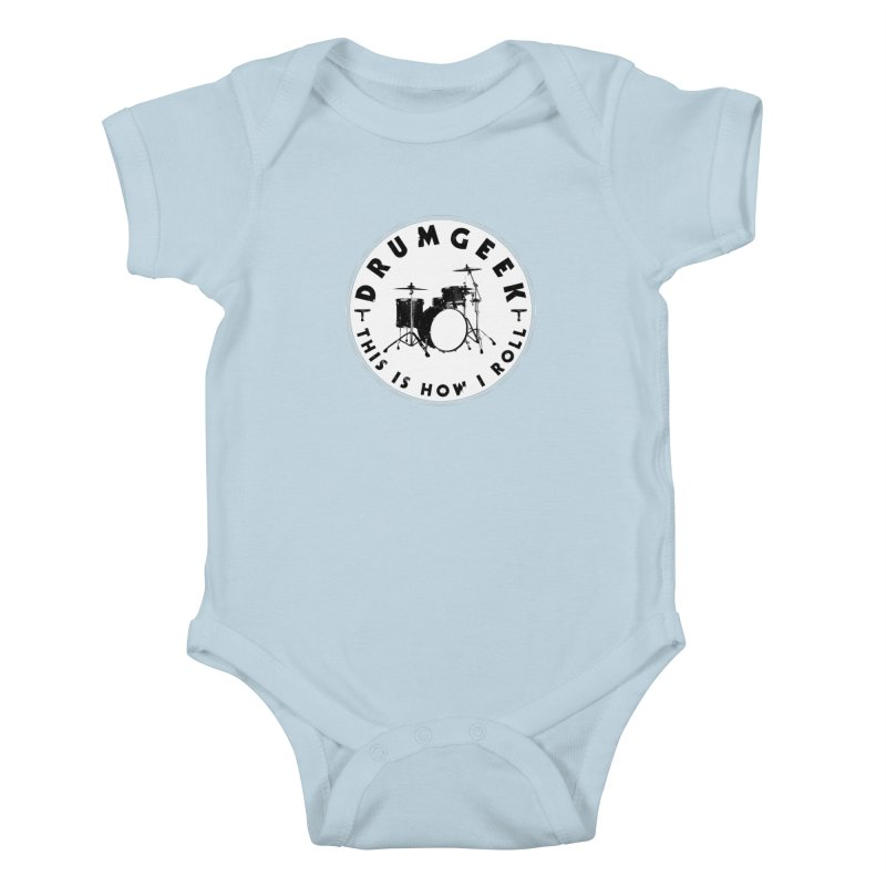 This Is How I Roll (Small Kit) - Solid Logo Kids Baby Bodysuit by Drum Geek Online Shop