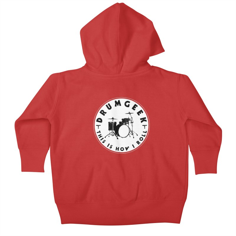 This Is How I Roll (Small Kit) - Solid Logo Kids Baby Zip-Up Hoody by Drum Geek Online Shop