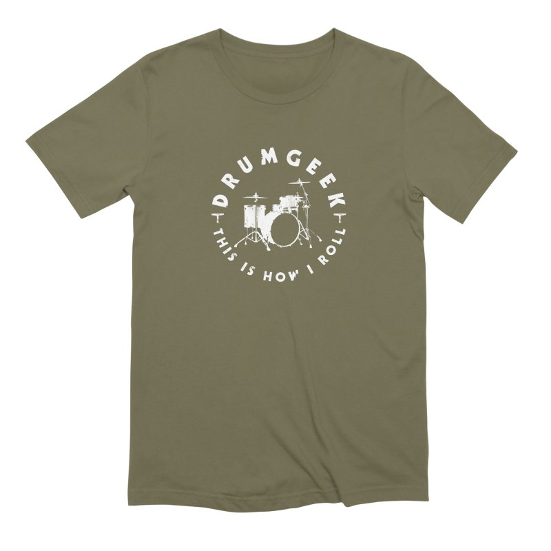 This Is How I Roll (Small Kit) - White Logo Men's Extra Soft T-Shirt by Drum Geek Online Shop